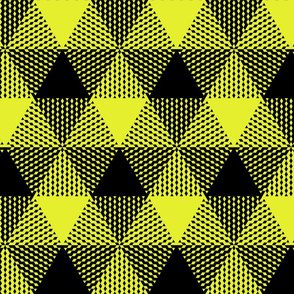 large triangle check - yellow and black