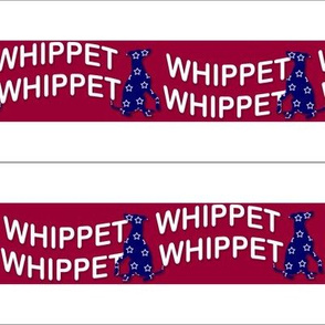 """Collar fabric """"Red Whippet n Blue"""""""
