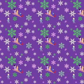 snowy purple-ed