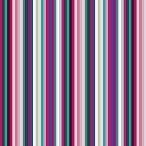 17-03F  Candy Stripe Burgundy Pink Teal _Miss Chiff Designs