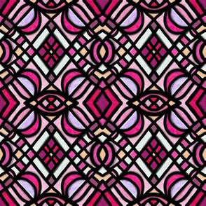 Project 179 | Stained Glass | Bright Pink