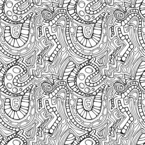 Geometric Black and White Fun Little Doodles