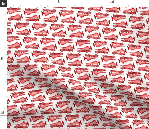 Griswold Family Christmas.Fabric By The Yard Griswold Family Christmas Stationwagon With Tree