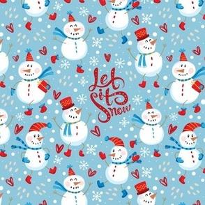 Festive Snowmen-Blue