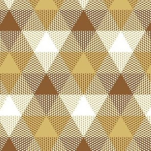 triangle gingham - caramel, white, chocolate