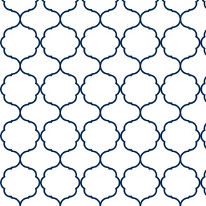 Hexafoil White and Navy