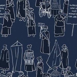 Suffrage on Dark Blue
