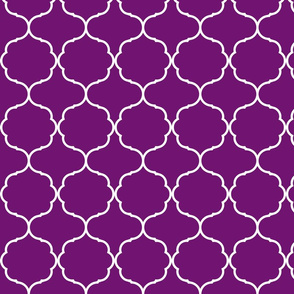 Hexafoil Purple and White
