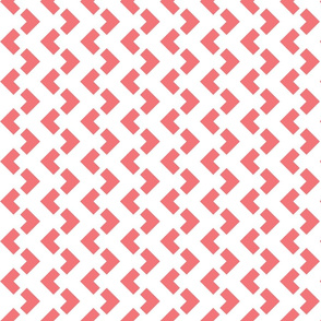 Chevron nested two frequency white -pink