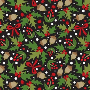 Festive - Holiday Floral Dark