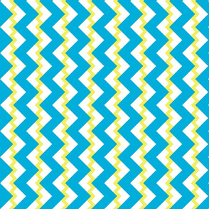 Chevron nested two frequency yellow-white-teal2