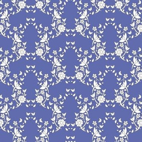 Colette's Blue Floral Lattice
