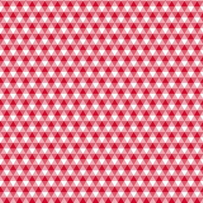 mini Christmas tree triangle gingham - red and white