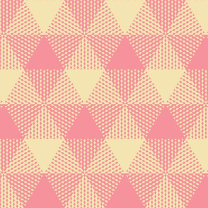 Large triangle plaid - pink and cream