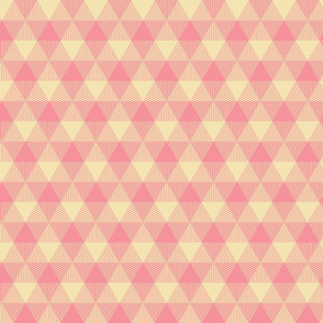 triangle gingham - pink and cream