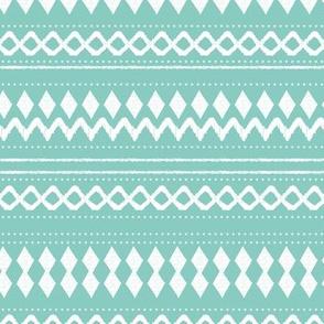 Monochrome tribal aztec indian summer ethnic print mint
