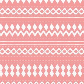 Monochrome tribal aztec indian summer ethnic print pink