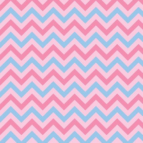 pink blue chevron
