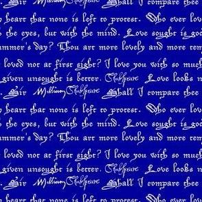 Shakespearean Love Quotes Blue