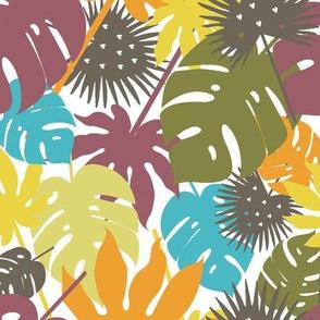Fall palm leaves