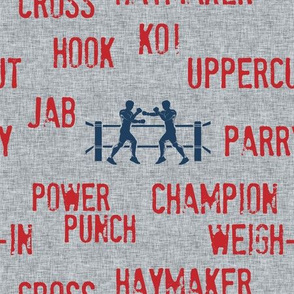Boxing Words - Sports fitness