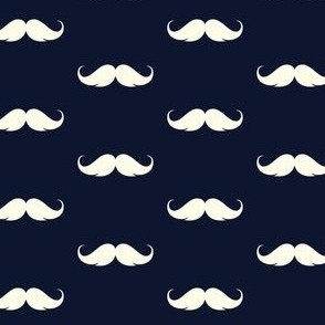 moustache in navy, hipster navy mo