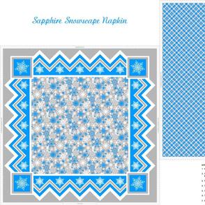 Sapphire Snowscape Napkin