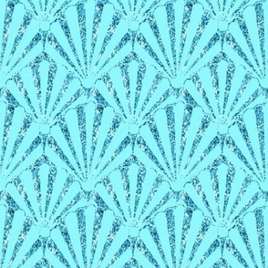 Aqua shell / Seashell Glitter /Aqua