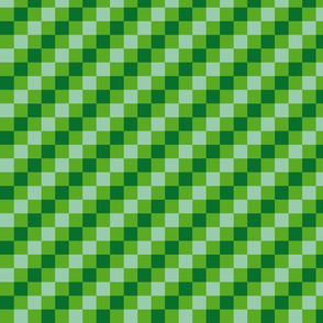 checkered green