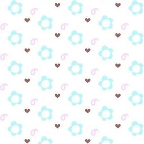 Popbi! - Brightbluesky - Paisley Floral! - © PinkSodaPop 4ComputerHeaven.com