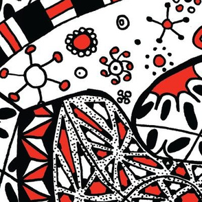 Black, White, and Red All Over