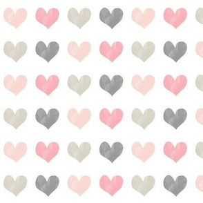 chalk multi hearts || valentines day