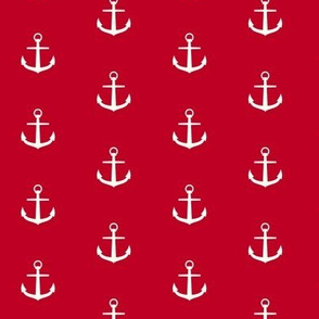 Anchor on red