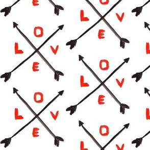 Valentine love arrow
