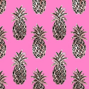 Pink Tropical Candy pink gold pineapples
