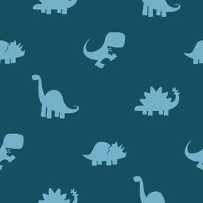 Dino Dot - Blue Ground