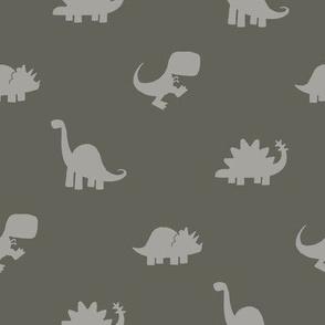 Dino Dot - Gray Ground