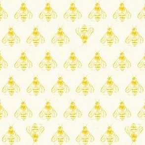 Honey bee I love thee // lemon yellow
