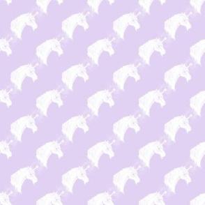 Unicorn Bust Diagonal, Lilac
