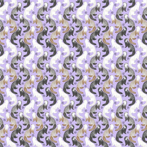 Cascading Ferrets - small purple