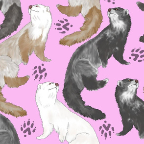 Cascading Ferrets - large pink