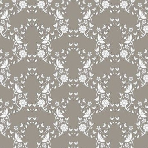 Colette's Taupe Floral Lattice