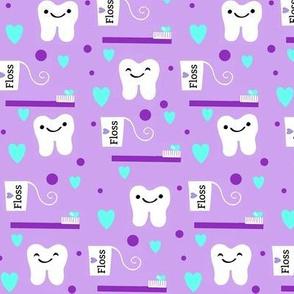 Brush Floss Dental One Directional Tooth Design / Lavender RDH