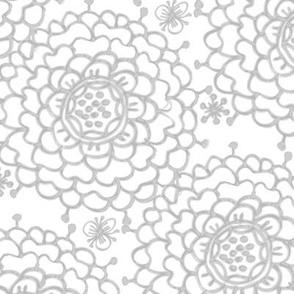 Gray & White Chrysanthemums