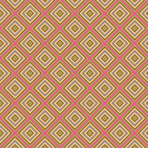 Victorian Geometric Stripe in Pink