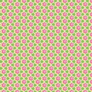 Victorian Floral on Lime