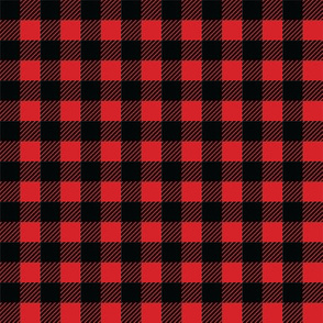 Buffalo plaid - 1/2 inch - Red & Black