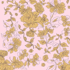 vintage_floral_mustard_pink