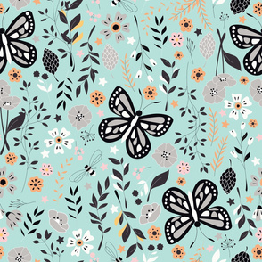 Flowers and Butterflies 002
