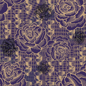 rose spindle - deep purple
